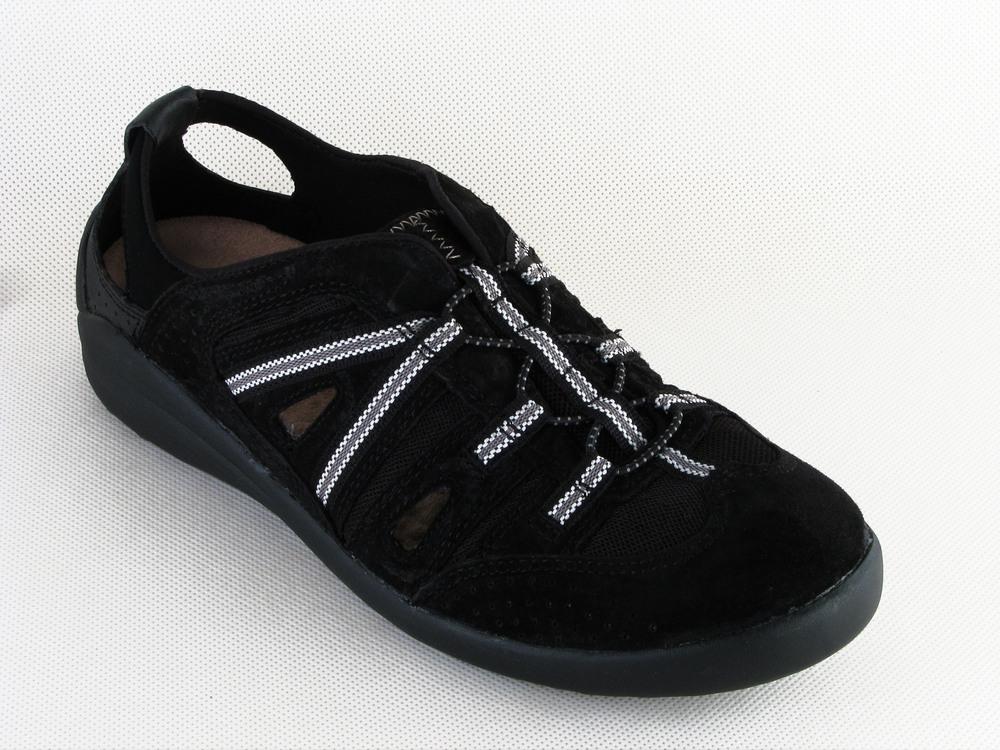 Ladies Earth Spirit Freemont Womens Walking Sandal Black