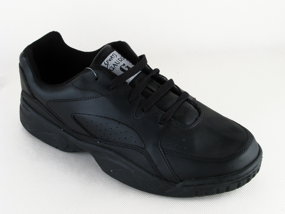 Mens-Black-Leather-Gaudi-Lace-Up-Trainers-Size-6-7-8-9-10-11-12-13-14