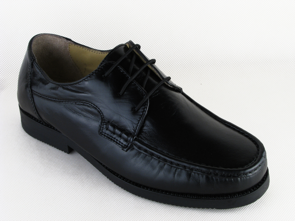 Mens Wide Fitting Luca Mancini Leather Lace Up Shoes Size